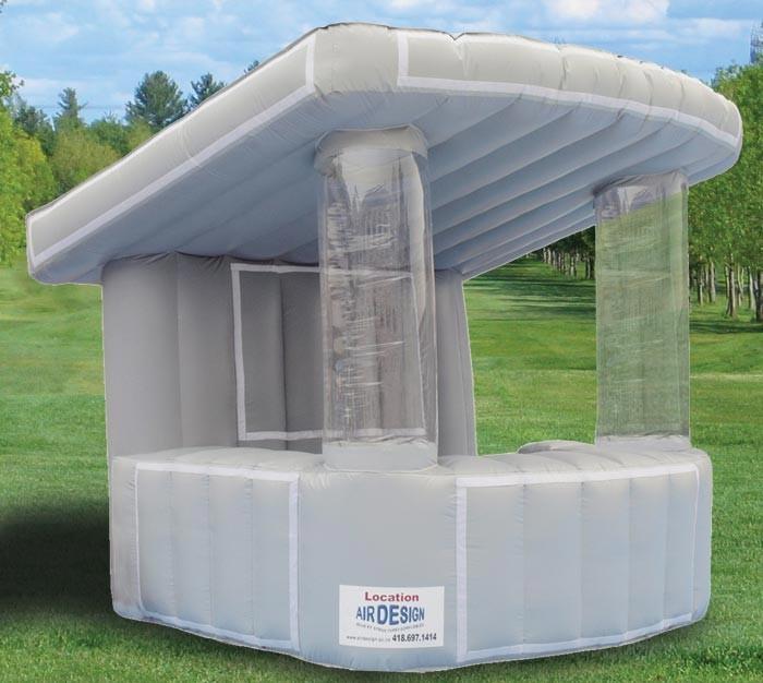 Air design location de jeux et structures gonflables for Kiosque exterieur design